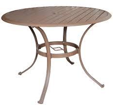 Panama Jack Island Breeze Slatted Top Aluminum 42 Round Dining Table