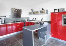 Cuisine Moderne Rouge Et Blanc Gallery Of Stunning Modele Salon