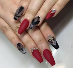 classy design black red. Classy Design Black Red. And Red Nails Perfect For Halloween! | Nailss Pinterest R