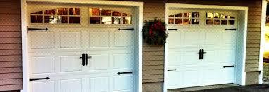 closed steel garage door