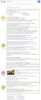 google serps car insurance sistrix