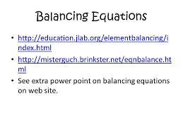 16 balancing equations
