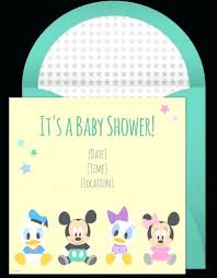 Disney Photo Invitations Mickey Mouse Baby Shower Invitations Best