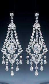 a magnificent early 20th century pair of diamond chandelier earrings chandelier diamond earrings