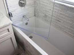 image of bathtub doors glass frameless trackless