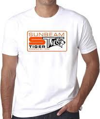 Sunbeam Tiger Badge Emblem Hillman Rootes Mens Printed Tee Shirt Gift Print T Shirt Hip Hop Tee T Shirt New Arrival Great Tee Shirt Designs Funny