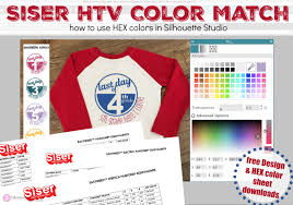 Siser Easyweed Htv Color Chart Most Accurate Siser Htv Color For Silhouette Studio Mock Ups