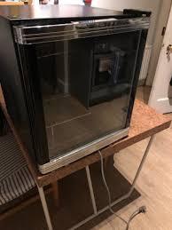 small wine chiller countertop fridge glass door