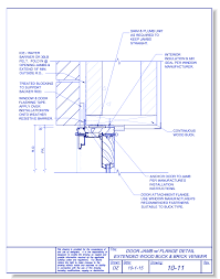 door jamb detail plan. Plain Detail CAD Drawings Fox Blocks Door Jamb With Flange Extended Wood Buck And Brick  Veneer Inside Detail Plan