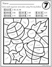 This method of thinking helps students understand why they're multiplying and. Space Math Color By Number Multiplication Review Facts 6 7 8 9 12