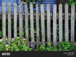 Old Weathered Rustic Wooden Fence Image Photo Bigstock