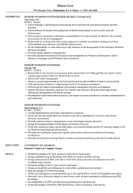 Senior Windows Engineer Resume Samples Velvet Jobs