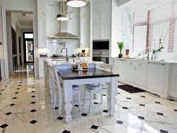 kitchen tile floor ideas with white cabinets stainless steel pyramid range hood wall mounted stainless steel