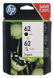Hp 62 Black Tri Colour Inkjet Cartridge 8 5 Ml Pack Of 2 Whsmith