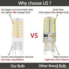 40 Watt Halogen G9 Light Bulb G9 Led Light Bulbs 5 Watt Equivalent To 40 Watt Halogen Bulb 120 Volt G9 Bi Pin Base Soft White3000k Omni Directional Lamp Pack Of 5 Cree Led Light