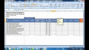 Planilla De Asistencia En Excel Caila