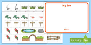 zoo map template.  Map Zoo Map Cut And Stick Worksheet  Activity Sheets  EYFS Early Years The In Template O