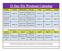 Workout Calendar Template Excel Fitness Schedule Template 12 Free