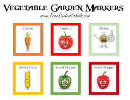 vegetable garden labels designs