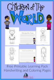 Small Picture Children Around the World Coloring and Writing Pack Culture