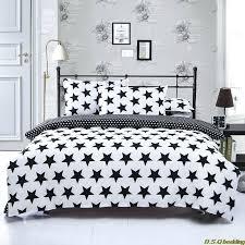 new black white star king queen full size single double bedding set comforter sheet duvet cover black and white comforter sets