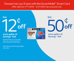 get 12 cents off every gallon of synergytm fuel for the first two months after