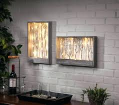 lighted wall art wdow s led canvas tree with timer