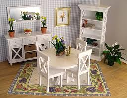 dollhouse miniature furniture. dining room furn white dollhouse miniature furniture c