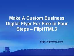 How To Make A Digital Flyer Make A Custom Business Digital Flyer For Free In Four Steps