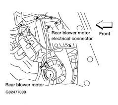2005 nissan quest rear heat malfunction heater problem 2005 2007 Nissan Quest Fuse Diagram thanks for getting back with me i believe your rear blower motor is defective let's check a couple of things first to make sure first check fuses 10 and 2007 nissan quest wiring diagram