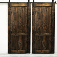 woodbury wood 2 panel interior barn door