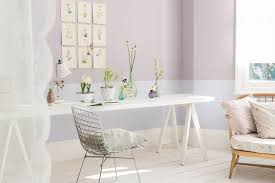 Dulux Pearl Effects Colour Chart Light And Airy Study Painted In Shades Of Purple Dulux
