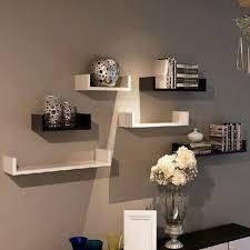 3pcs set wall mounted u shape floating wall shelves book dvd storage shelf white