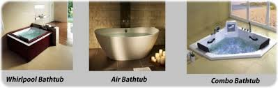 diffe types of bathtubs