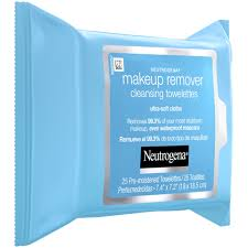 neutrogena cleansing makeup remover cleansing towelettes 25 ct 6 per case upc 070501051054