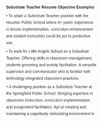 Teacher Resume Objective Beauteous Entry Level Teacher Resume Objective Examples Beautiful Substitute