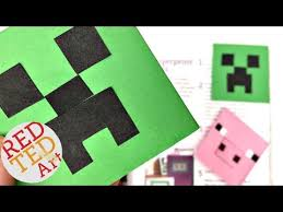 easy minecraft bookmark creeper diy paper crafts