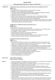 Community Relations Resume Community Relations Specialist Resume Samples Velvet Jobs 1