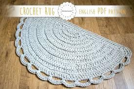 half moon rugs half circle rug rug pattern crochet half moon pattern crochet rug half half