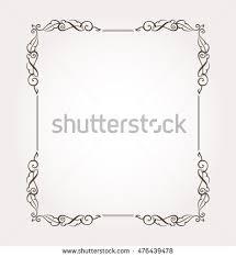 fancy frame border. Frame Border. Fancy Page Decoration. Vector Illustration Border