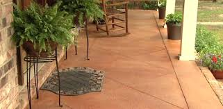 Backyard Concrete Designs Enchanting How To Score And Acid Stain A Concrete Slab Porch Or Patio Today's
