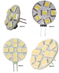 <b>2x 12V 6</b> SMD LED G4 PIN GLOBE LIGHT MARINE/BOAT/CARAVAN