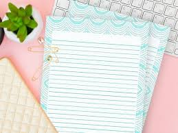 Lined Stationery Paper