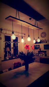 Lampe Für Den Esstisch Selbst Gebaut Aus Altem Brett