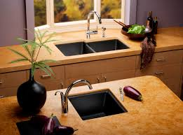 black kitchen sinks and faucets. Composite Granite Kitchen Sink Black Sinks And Faucets