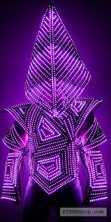 Light Solutions Etere Silent Hill Man Led Light Cage Armor Costume Rainbow