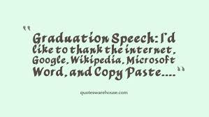 Graduation Quotes Inspiration Funny Graduation Quote Quotes Warehouse
