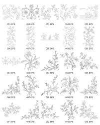 線画ベクター図 3 の花の種類 無料素材イラストベクターのフリー