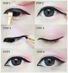 eyes make up and ulzzang image hi makeup