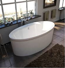 freestanding oval center drain bath